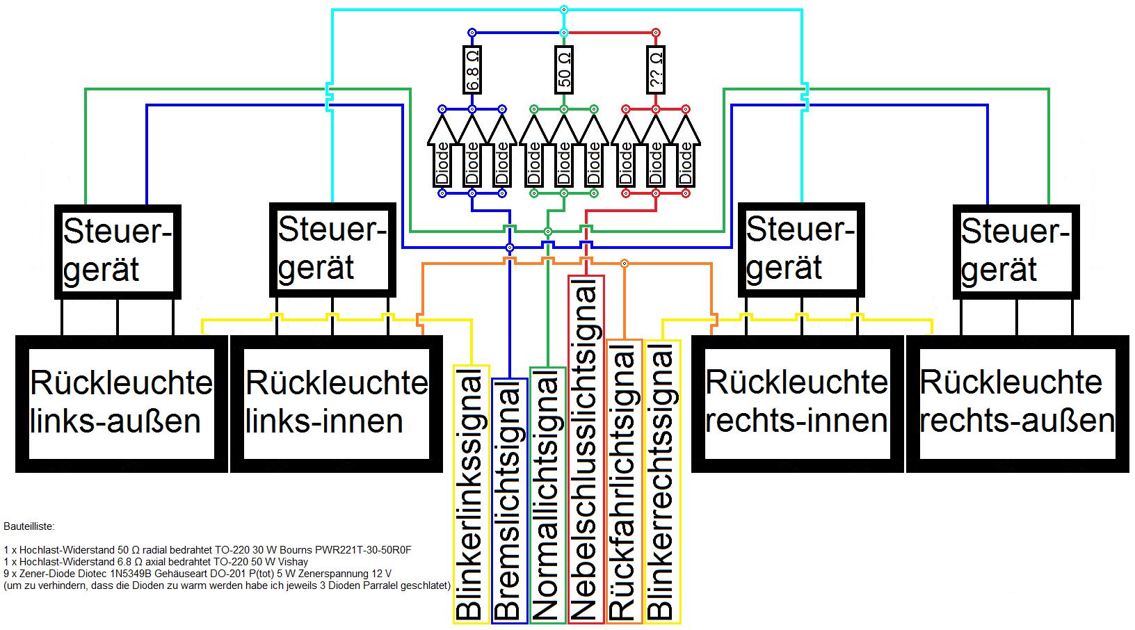 Großartig Schaltplan Für Rückleuchten Bilder - Die Besten ...